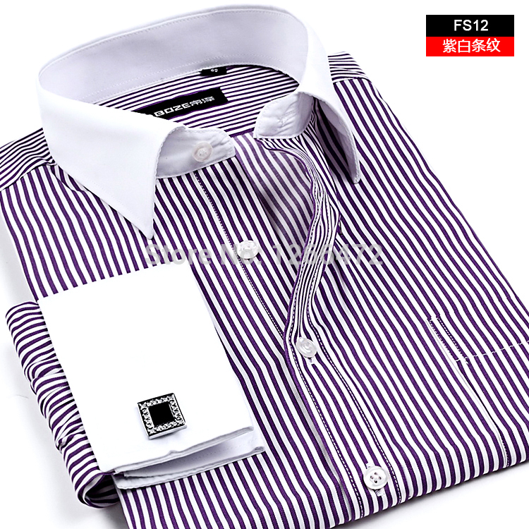 high-quality-mens-classic-french-cuff-shirt-brand-formal-shirts-for-men-long-sleeve-dress-shirt